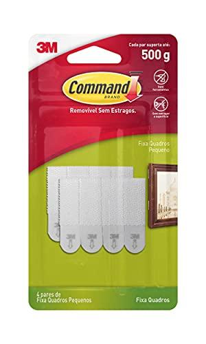 Fixa Quadros Adesivo 3M Command Pequeno - 4 pares