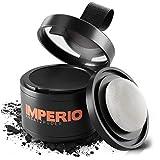 IMPERIO Ansatzpuder - Haar Concealer zur Haarverdichtung für Frauen und Männer, wasserfestes Haar Make-up zum Ansatz kaschieren - 4g (Schwarz)