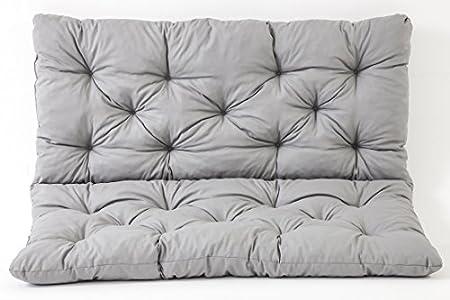Ambientehome 90266 - Funda de banco Hanko de 2 asientos y cojín de respaldo, Color Gris claro, aprox.120 x 98 x 8 cm