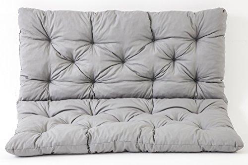 Meerweh 90266 - Cuscino per panca a 2 posti e per Panca Hanko, grigio chiaro, approx. 120 x 98 x 8 cm