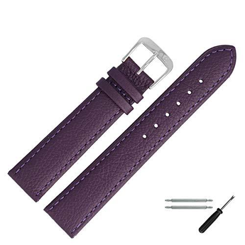 MARBURGER Uhrenarmband 18mm Leder Lila - 8071854000120