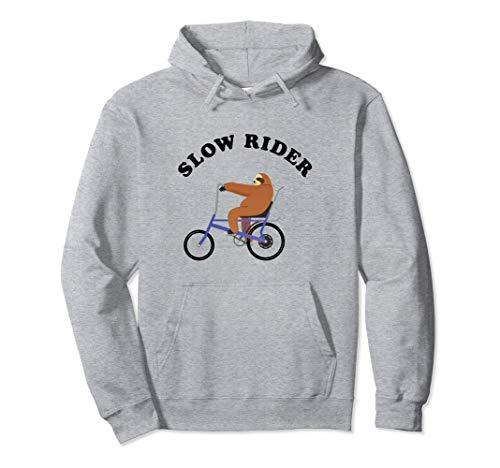 Slow Rider Vintage Retro Faultier auf Bonanza Fahrrad Pullover Hoodie