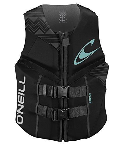 O'Neill Wetsuits Women's Reactor USCG Life Vest, Black/Black/Black