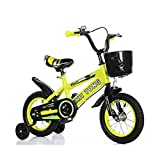 Bicicleta para niña de 2 a 7 años, con Freno de contrapedal, Modelo de 12/14/116/18 Pulgadas, Color Azul, Rojo, Amarillo Sin Asiento Trasero,Amarillo,14INCH