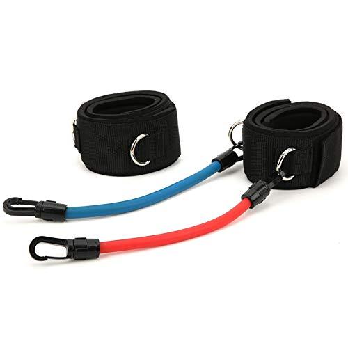 Banda de Resistencia al Ejercicio, Banda de Entrenamiento de piernas Ejercicio de Potencia Ajustable para Entrenamiento Auxiliar para Taekwondo(Set 1)