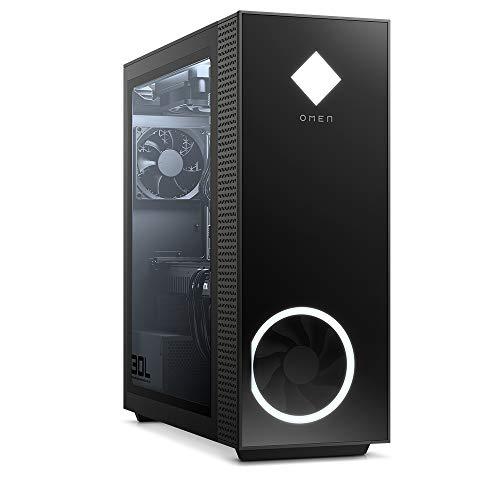 OMEN GT13-0005ng Gaming Desktop (AMD Ryzen 9-3900, HyperX XMP 32GB DDR4 RAM, 2TB HDD, 512GB SSD, Nvidia GeForce RTX 2080Ti 11GB GDDR6, RGB, Windows 10) schwarz mit Seitenfenster