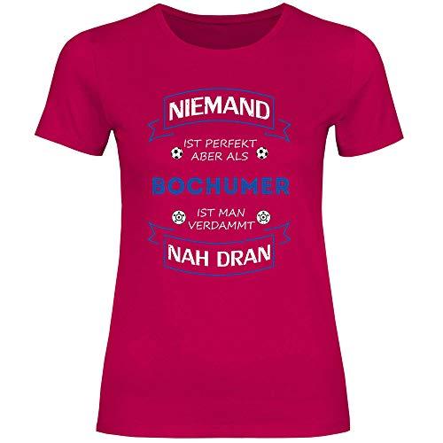 wowshirt Damen T-Shirt Fußball Trikot Bochumer Bochum, Größe:S, Farbe:Sorbet