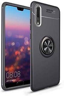 جراب Huawei P20 Pro Ring Kickstand من TPU - أسود.