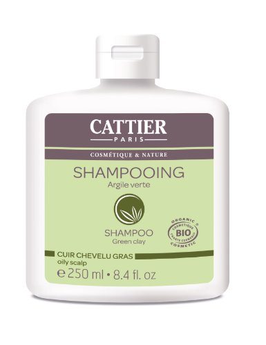 Cattier Shampooing Cheveux, Gras Argile Verte, Cuir Chevelu Gras, BIO, 250 ml Lot de 2