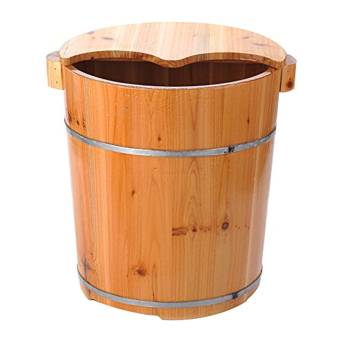 ERHANG Saunas Bassin De Pédicure, 40 Cm avec Pieds Baril Pied Baignoire Baril Pied Baril Pied Seau Maison Massage Accessoires,B