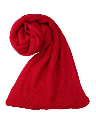 Sourcingmap Écharpe d'hiver pour femme chaude tricotée longue forme rectangulaire élégante rouge Taille unique
