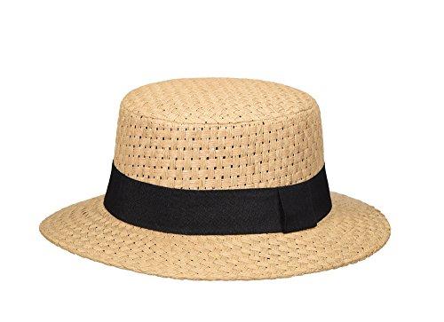 Miuno Miuno® Unisex Panamahut Herren Damen Partyhut Stroh Hut H51052 (Camel)