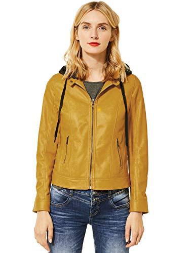 Street One Damen 211209 Kunstlederjacke, Leather Yellow, 40