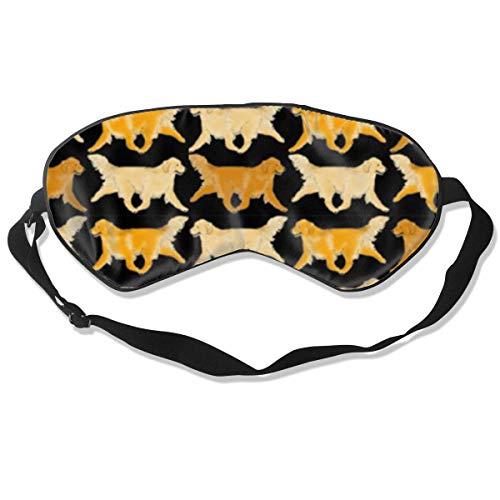 Schlafmaske Trotting Golden Retriever, Seidenmaske mit verstellbarem Kopfband, Block, leichtes Nickerchen