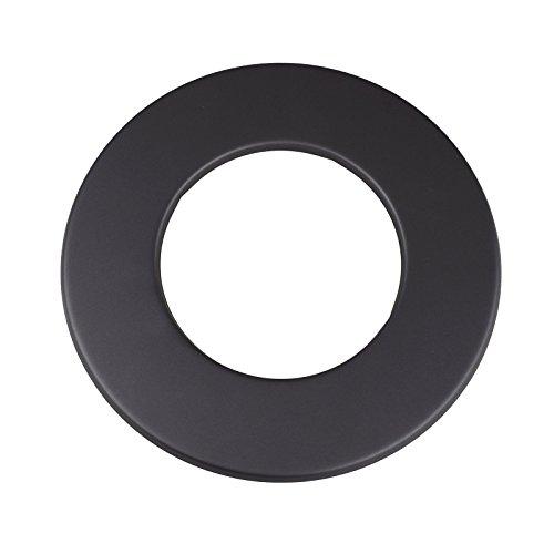 Kamino - Flam – Rosetón para tubo de chimenea (Ø 120 mm), Rosetón anillo para tubos de estufa, Rosetón conector para sistema de chimeneas, estufas, ventilaciones – acero resistente y durable