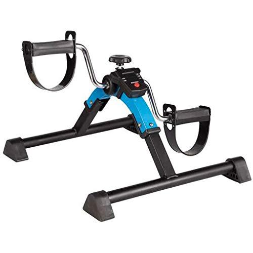 YDHBD Plegable Ejercitador De Pedal con Monitor Digital, Ancianos Mini Bicicleta De Ejercicio para Miembros Superiores E Inferiores Entrenamiento De Rehabilitación Y Perder Peso