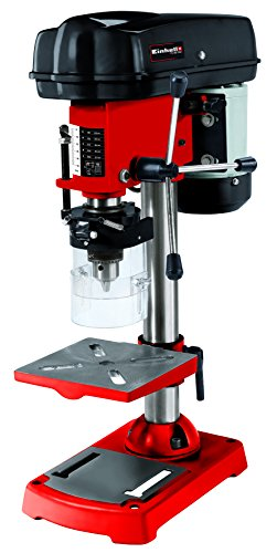 Einhell 4250670 Taladro de columna(350W, 580-2650U/min, inclinable, orientable y ajustable, de perforación, virutas de mesa, protección), Rojo