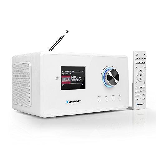 Blaupunkt IRD 30c Internetradio (inklusive DAB, Digital-Radio, UKW-Empfang, Wlan Küchenradio, Radiowecker und Uhrenradio, Farb-Display mit App-Funktion, Miniradio im edlen Design und Fernbedienung)