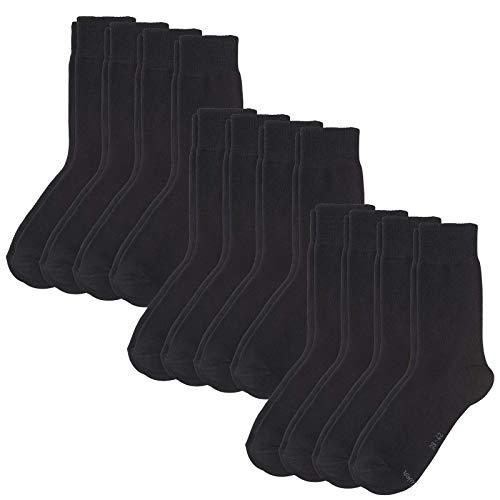 s. Oliver Socken 12 Paar, Unisex Classic Socks, Kurzsocken, S20028 (3x 4er Pack) (Schwarz, 39-42 (6-8 UK))
