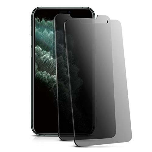 Compatible with iPhone Xs Max Screen Protector(2-Pack), Insten [Privacy Anti Spy] Tempered Glass Film w/Installation Tray 9H Hardness/Case Friendly/HD Clarity/Touch Accurate