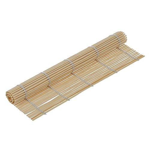 Dasorende Japanische Sushi Matte Bambus Rollmatte Polster JAPANISCHE KueCHE 23cm x 24cm