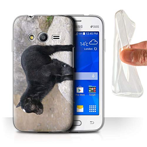 eSwish Carcasa/Funda TPU/Gel para el Samsung Galaxy Trend 2 Lite/G318 / Serie: Lindos Animales de Compañía - Cabrito/Cabra