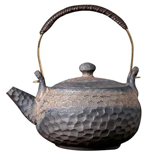 HEMOTON Keramik Teekessel, Vintage Japanische Teekanne Wasserkanne mit Retro Griff, 230ml