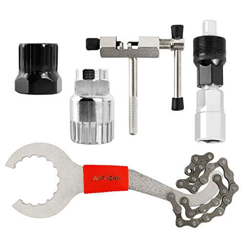 AoToZan 5 in 1 Fahrrad Kettennieter Reparatur Werkzeug Set Kettenachse Extractor Removal Reparatur Werkzeug für 8/9/10-fach Ketten