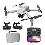JANEFLY Drone con cámara 4K HD, cuadricóptero Plegable con Retorno automático a casa, Motor sin escobillas, sígueme, función de Control Remoto