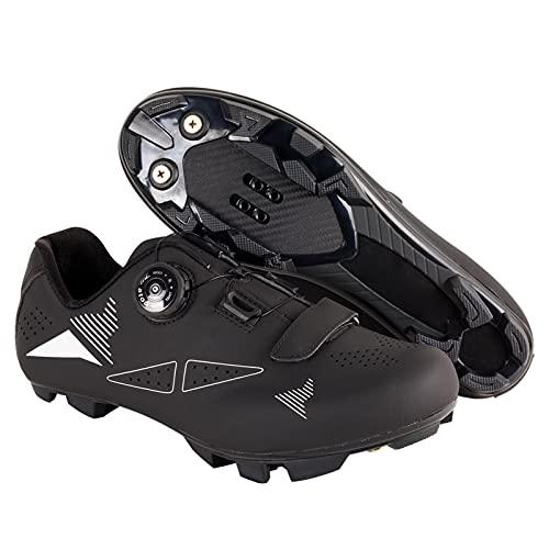 ZHBW Zapatillas De Ciclismo MTB para Mujer,Zapatillas Bicicleta Montaña Hombre Bloqueo Automático Exteriores (Color : Black, Shoe Size : 40 EU)