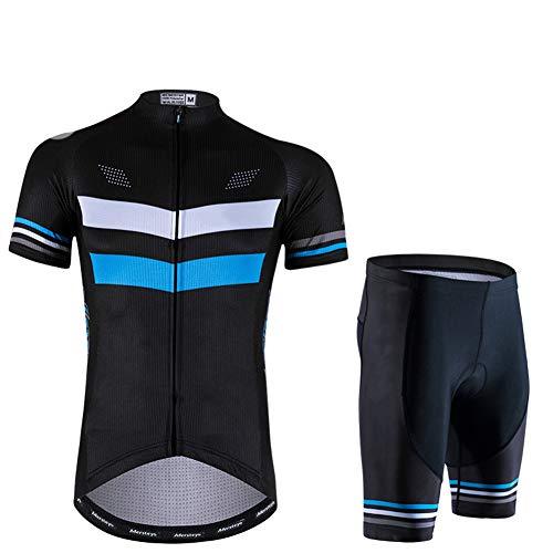 Maillots Ciclismo Ropa Jersey Equipacion Conjunto Cómodo Verano Bici Kit de Manga Corta para Al Aire Libre Deporte Hombres Y Mujeres,XL