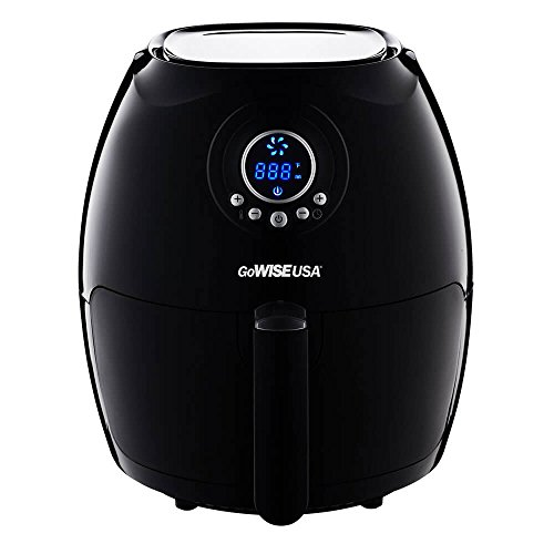 GoWISE USA 2.75-Quart Digital 50 Recipes for Your Air Fryer Book, QT, Black