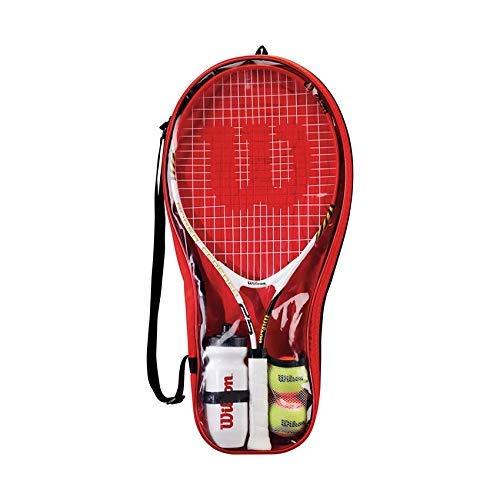 Wilson Federer 25 Junior 2 Raqueta Tennis Set Con Esferas,Botella Agua & Bolso