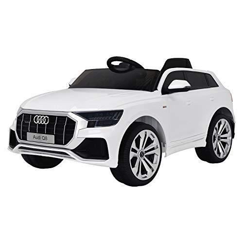 Happy Garden Voiture électrique Audi Q8 - Blanche