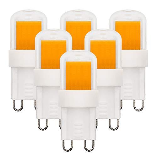 G9 LED Warmweiß 3000K Dimmbar Leuchtmittel 3W Ersetzt 20W-33W Halogenlampe 220V-240V für die Hausbeleuchtung, 6er Pack [MEHRWEG]