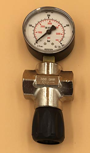 HTD Absperrventil 300bar mit Manometer G1/4