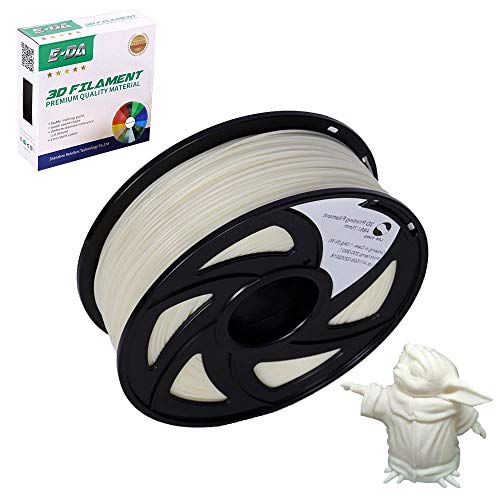 E-DA ABS 3D Printer Filament, ABS Filament, With High Strength and Better Toughness, 3D Printing Filament for 3D Printers, Dimensional Accuracy +/- 0.03mm, (White)