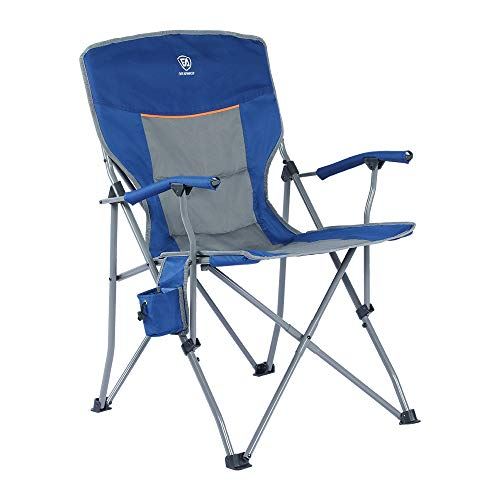 EVER ADVANCED Foldable Camping Chair Padded Arm Chair,Collapsible Steel Frame Heavy Duty Supports...