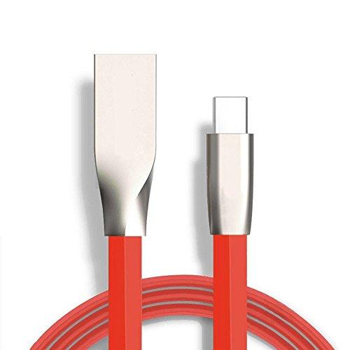 Sweet Tech USB Type-C Kabel zu USB 2.0 (3.3ft) ROT Starke 3D-Legierung Ladekabel für Chuwi Vi10 Plus 10.8 Inch Tablet PC