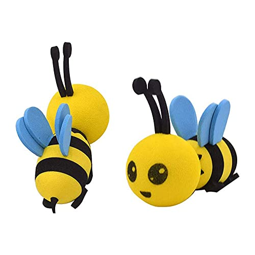 SHOPANTS 2 Pieces Cute Honey Bee Aerial Ball Car Antenna Toppers Smiling...