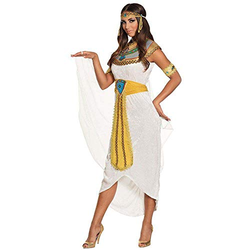 Boland-29897 Diosa del Nilo Anuqet Disfraz de Mujer, Color Blanco Dorado, S (36/38) (Ciao SRL 29897)