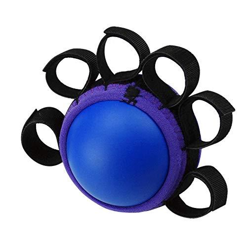 Fingertrainingsball zur Stärkung des Handgriffs für die Fingerrehabilitation bei Therapie, Stress, Arthritis und Computerbenutzern (blau)