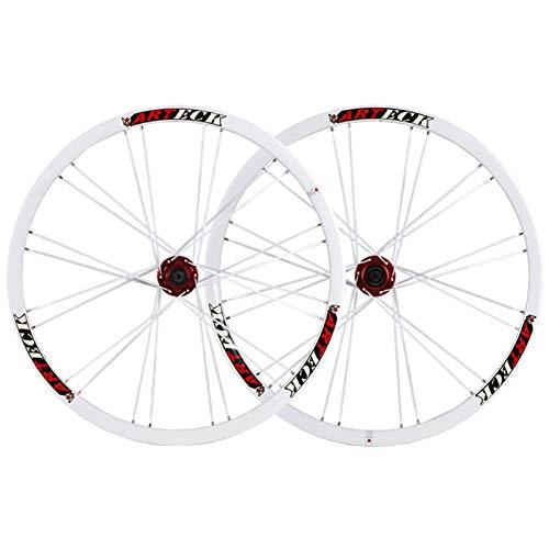 TYXTYX Schnellwechselachsen Fahrradzubehör Fahrradradsatz 26 Zoll MTB Scheibenbremse Fahrradrad 24 Speichen für 7-10-Gang-Kassettenschwungrad QR 2342g Rennrad Cyclocross-Fahrradräder