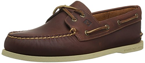 Sperry Mens A/O 2-Eye Boat Shoe, Tan Pullup, 10.5