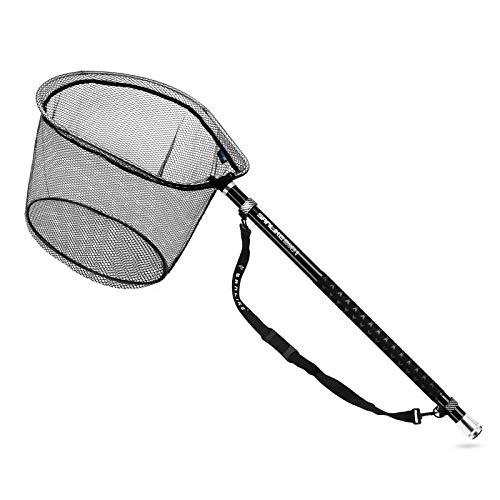 サンライク(SANLIKE) 玉網 ラバーネット 伸縮 タモ網 折りたたみ ランディングネット9段階 小継玉の柄 オーバル型 40cm網の深さ カーボン製 釣りネット 3m 5m 6m