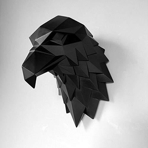Dierenkop, adelaarskop, open haard wanddecoratie in Nordic woonkamer veranda eetkamer, creatieve persoonlijkheid moderne driedimensionale adelaarskop sculptuur