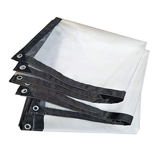DPLLM Lona de Invernadero, Lona Impermeable Transparente Transparente Multiusos Lona de plástico Transparente Resistente a la Lluvia, para Plantas Invernadero Pet Hutch Roof
