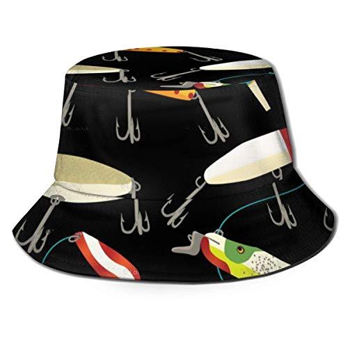 Lawenp Damen Packable Bucket Hat Angeln Köder Sommer Atmungsaktive Angeln Sun Cap...