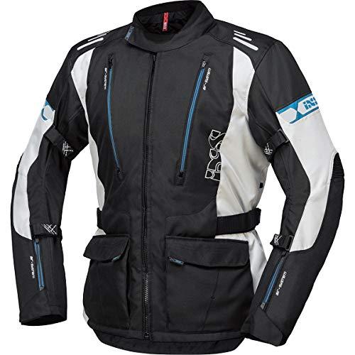IXS Motorradjacke mit Protektoren Motorrad Jacke Lorin-ST Textiljacke schwarz/hellgrau/blau L, Herren, Tourer, Ganzjährig, Polyester