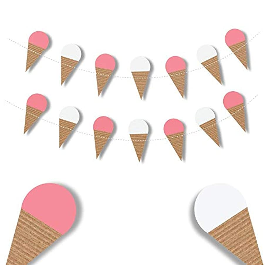 Ice Cream Cone Garland - Photo Props - happy birthday banner - summer decorations - party decorations - Waffle Cone Banner - Kids room garland Summer Parties - Sweet Tables - baby girl